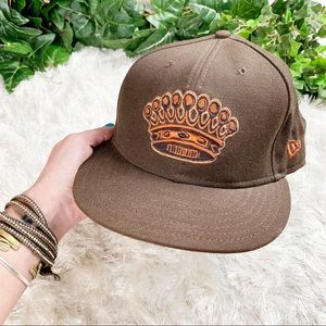 New Era 59fifty Fitted Brown King Crown Hat 7 3/8